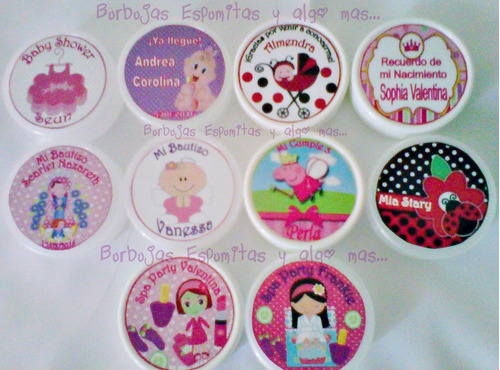 porta caramelos recuerditos baby shower cotillon spa fies