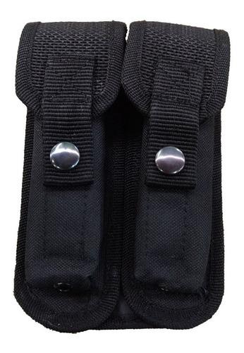 porta cargador doble para 9 mm policial e.a  con pasa cinto