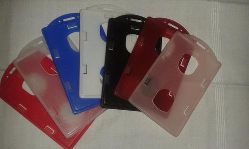 porta carnet vertical ( azul,rojo;transparente,blanco etc..)