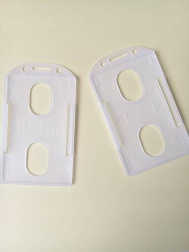 porta carnet vertical transparente, sencillo. 5 unidades.