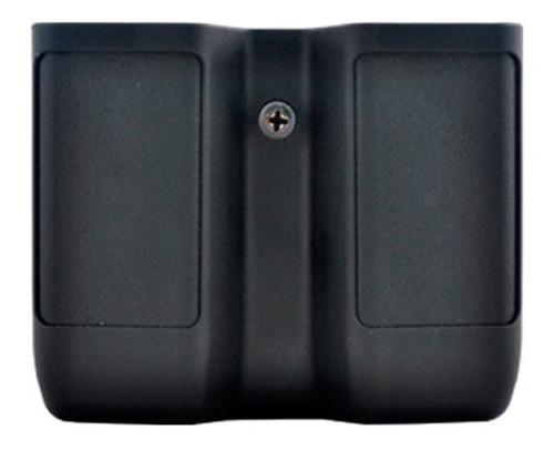 porta carregador duplo em polímero bélica preto - clip