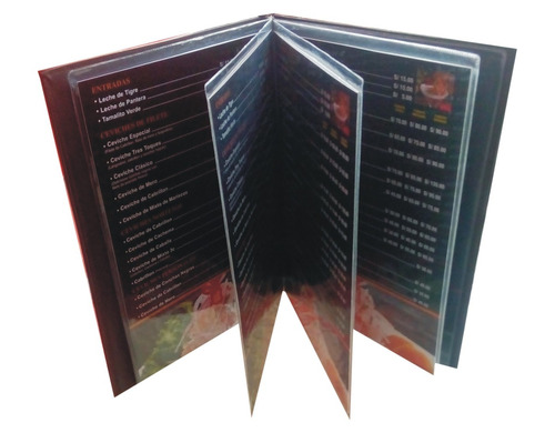 porta carta de menu