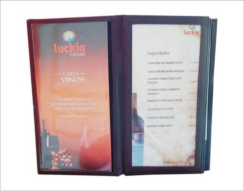 porta carta de menu modelo premium bremen