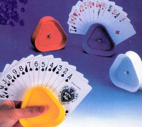 porta cartas sujetador cartas  poker canasta, etc. 4 x caja.