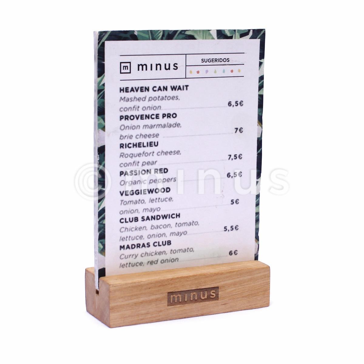 porta cartel promo menu table tent bar madera 130 00 en