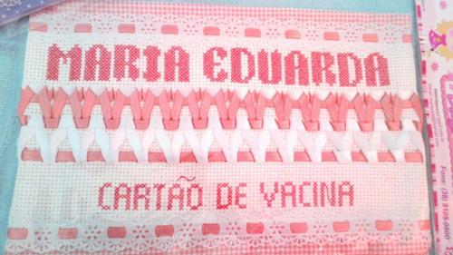 porta cartão de vacina personalizado