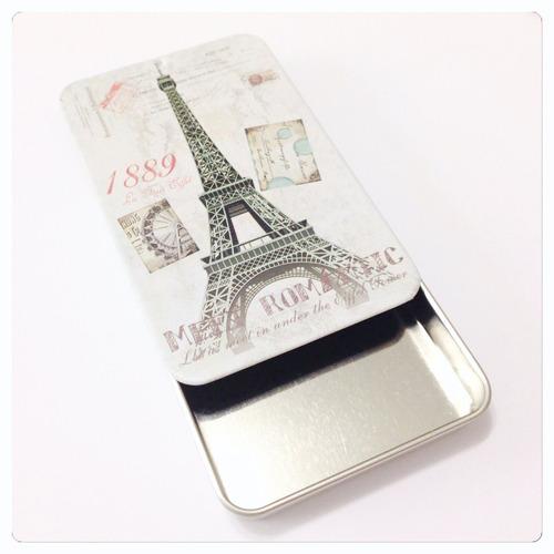porta cartão de visitas e crédito de aço estampado paris