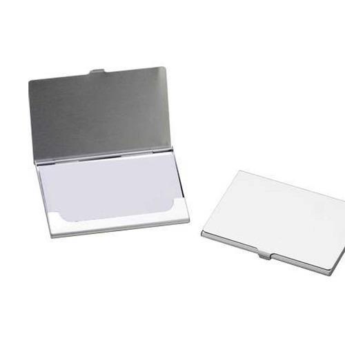 porta cartão de visitas metal kit com 10 unidades