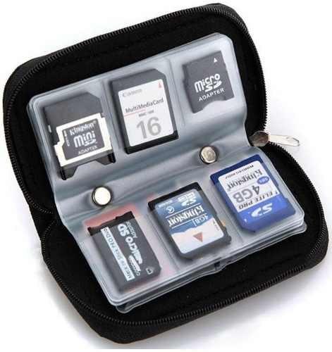 porta cartão memória bolsa capa