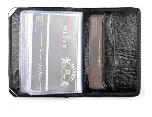 porta cartão mitty couro com cantoneira - pc5