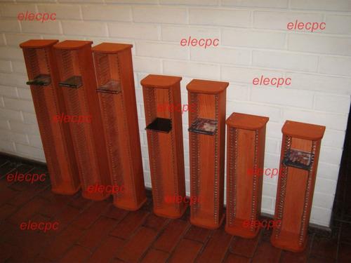 porta cd 40 unidades. madera, artesanal.