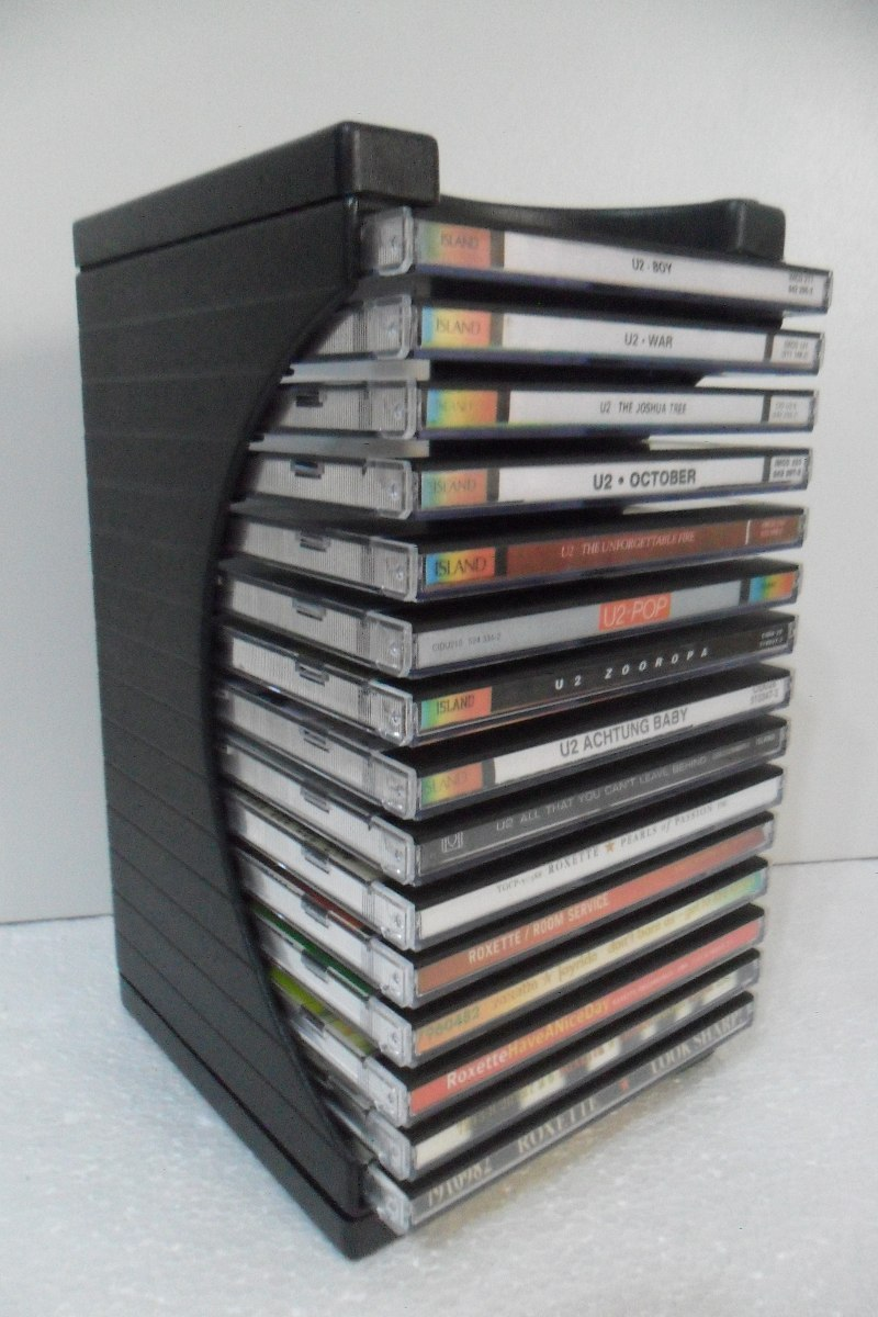 porta cd modular organizador p 15 cds cd box 15 r
