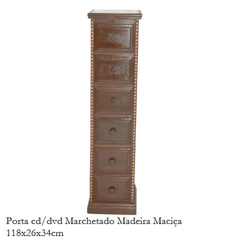Porta Cd/dvd Em Madeira Maciça Marchetada Lindo Design - R$ 816,00 ...