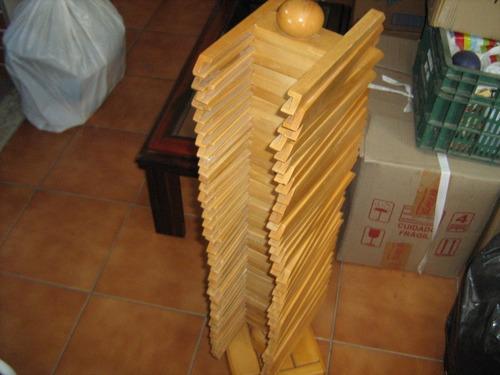 porta cds comporta 40 cds linda pç giratoria de madeira
