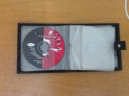 porta cds em couro com 12 divisoes + cd dave matheus band