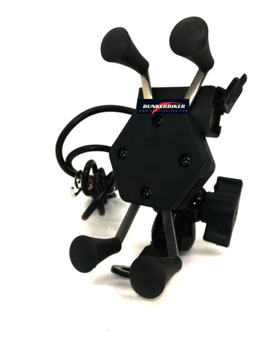 porta celular con cargador moto holder usb