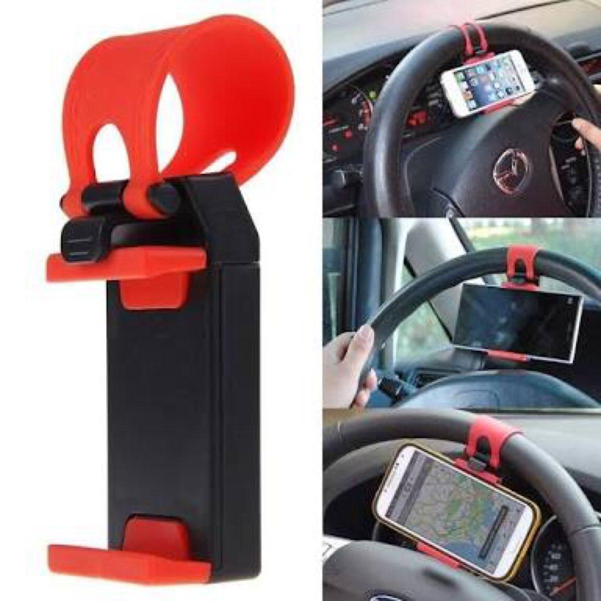 Porta Celular En El Volante; Silicon Celular De Carro Uber