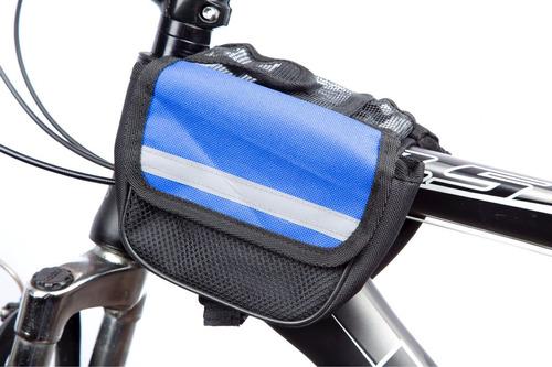 porta celular /gps + mini bolso alforja bicicleta excelente!