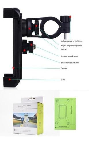 porta celular para bicicleta gira 360°