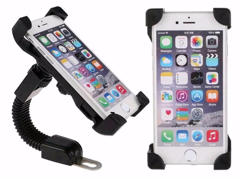 Porta celular para motocicleta base espejo universal for Espejo universal para moto