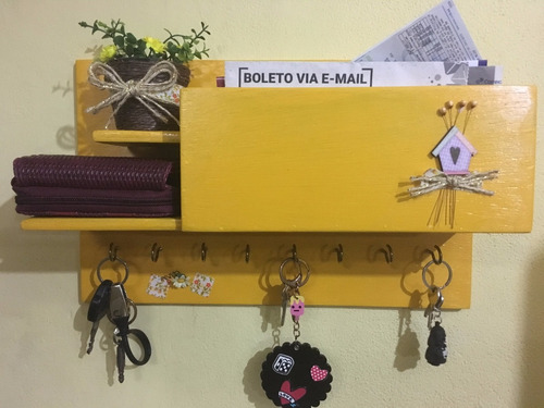 porta chaves, cartas, carteira colorido e decorado + brinde