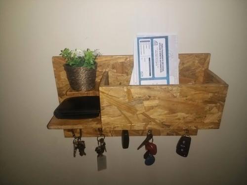 porta chaves, cartas, carteira e celular + brinde