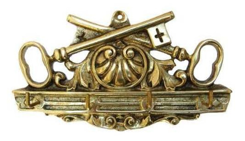porta-chaves chave cruzada em bronze maciço - bronzeshop