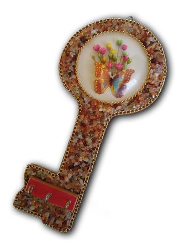 porta chaves com pedra ref: 7351