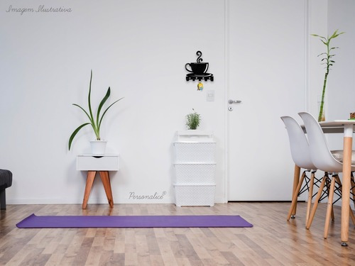 porta chaves de parede decorativo xicara de café 15x17 cm