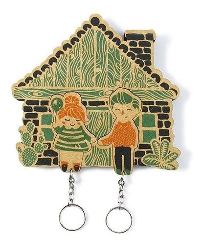porta chaves lar doce lar com chaveiros