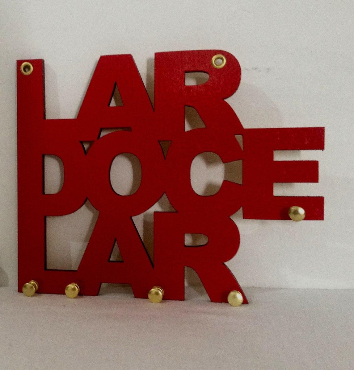 Porta Chaves Parede Criativos - Modelo Lar Doce Lar - R  24,90 em ... 01a6706f8d