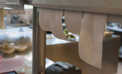 porta comanda para papeles aluminio 46 cm ancho comandera