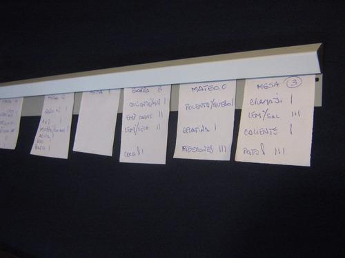 porta comandas , pedidos , papeles, sujetador de notas