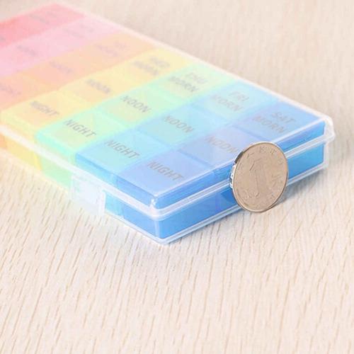 porta comprimidos medicamentos capsulas 21 divisorias movel