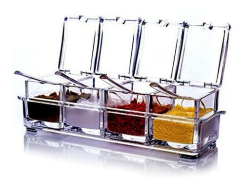 porta condimento organizador tempero acrílico cozinha oferta