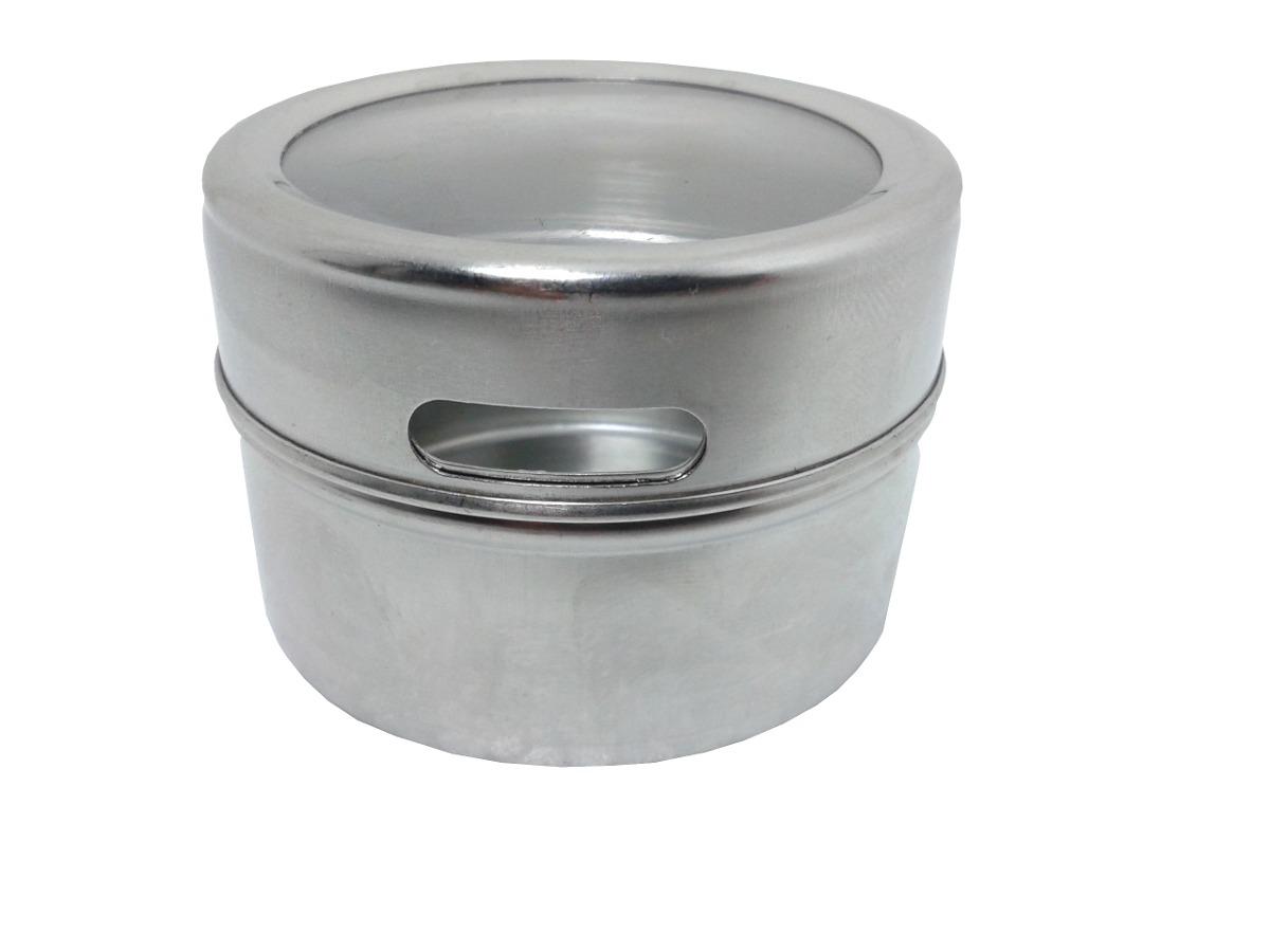 Porta condimento tempero inox magn tico im geladeira a1 for O que e porta condimentos