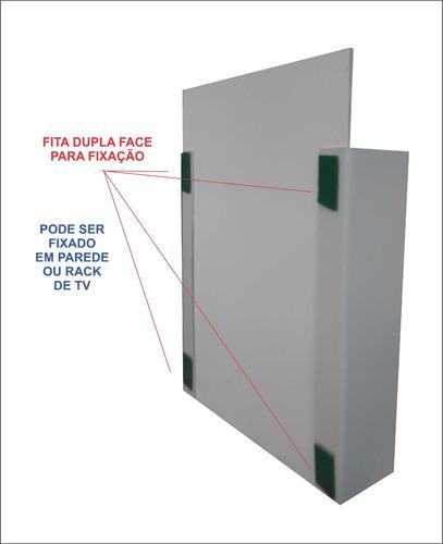 porta controle remoto de parede ou rack - tema heróis