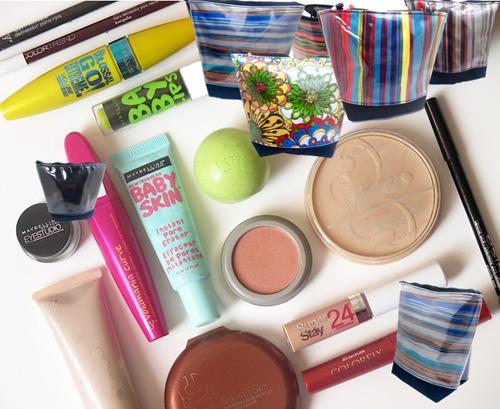porta cosmetico monedero organizador labial maquillaje mujer