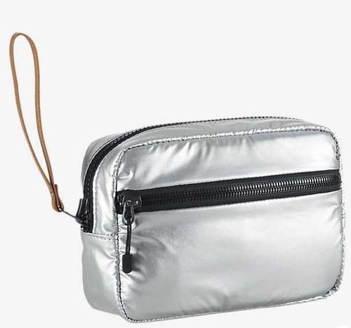 porta cosmetico nike studio kit metallic reversible original