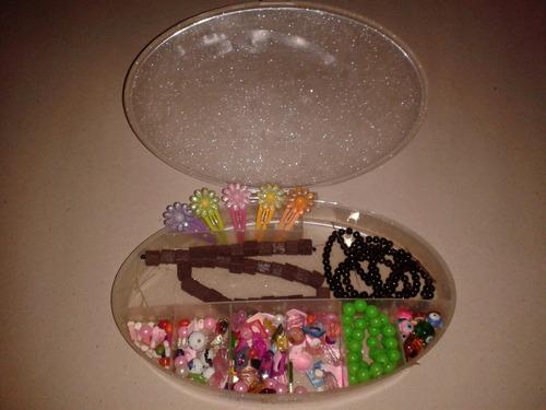 porta cosmético/joyero de plástico/ compartimientos incluye