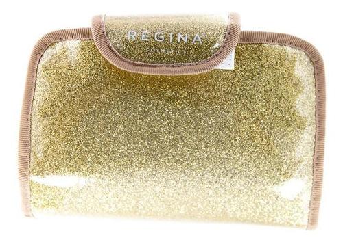 porta cosméticos dorado rectángulo con espejo #216