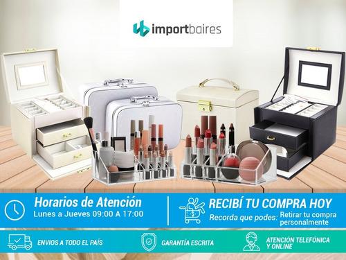 porta cosmeticos organizador para maquillaje + accesorios
