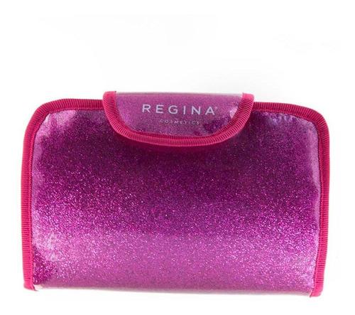 porta cosméticos rectángulo fucsia con espejo #216 regina