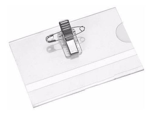 porta credencial broche y alfiler identificador caja x50