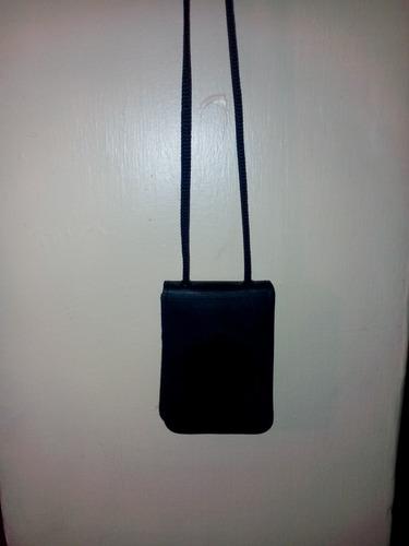 porta credencial de cuero sin escudo de cordon
