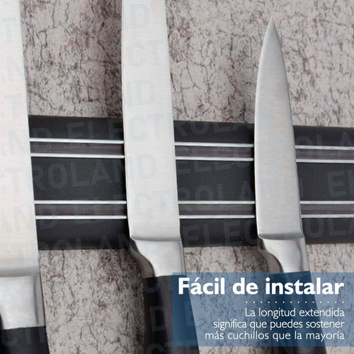 porta cuchillo imantada cuchillos o herramientas 50cm cocina