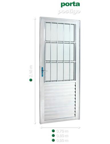 porta d alumínio brilhante 210x60/70/80 queima de estoque !