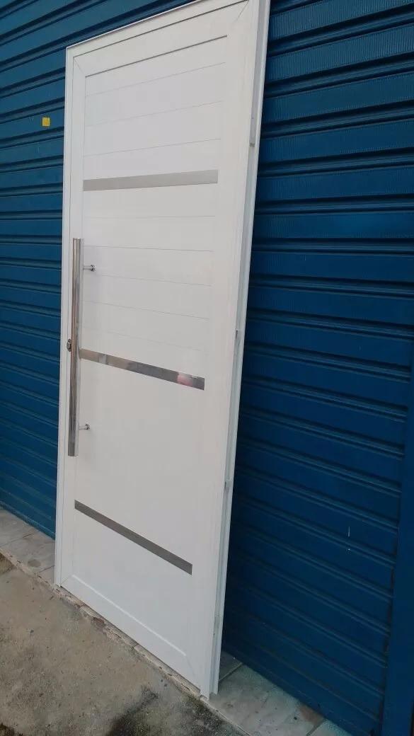 Porta De Alum Nio Pivotante 210 X 100 Branca R