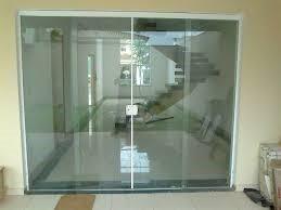 porta de blindex  2,10x2,00 de correr desmontada incolor