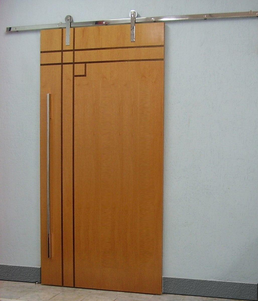 Porta de correr com detalhe de vidro r em for Porta 1 20